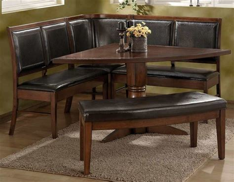 corner table ideas sensational corner kitchen table sets with dark brown