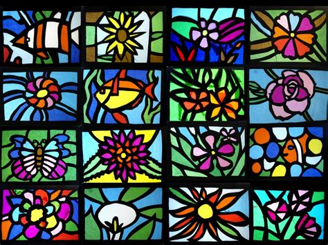 Stained Glass Craft Tissue Paper - stained glass of tissue paper