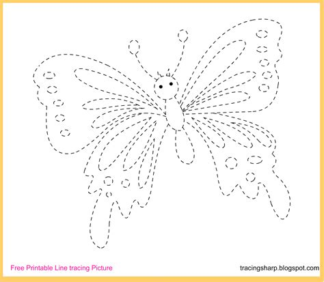 printable tracing images free tracing line printable butterfly tracing picture