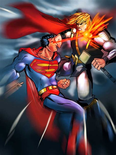 movie thor vs man of steel superman most debated crossover battles