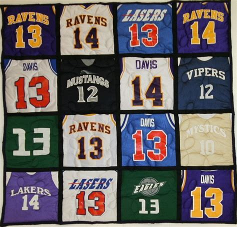 Quilts Made From Sports Jerseys by 17 Best Images About Jersey And Shirt Quilts On
