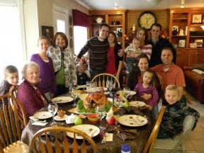 family at thanksgiving the purpose and blessings of thanks giving morsels of bread