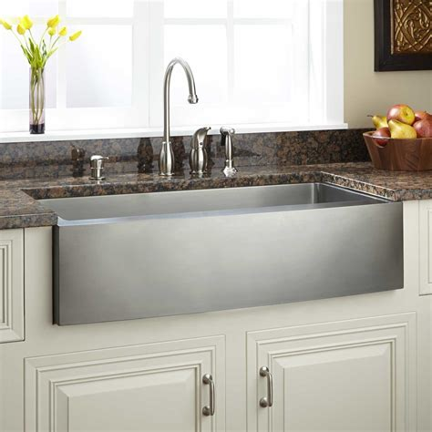 farmhouse kitchen sink curved smooth sink signaturehardware com