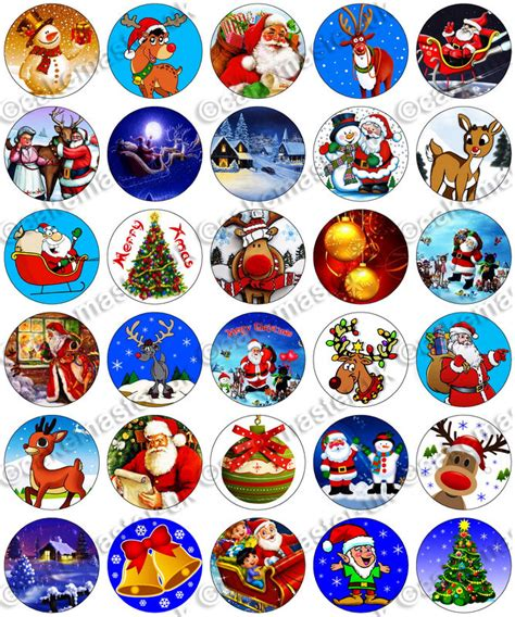 30 x christmas xmas party edible rice wafer paper fairy