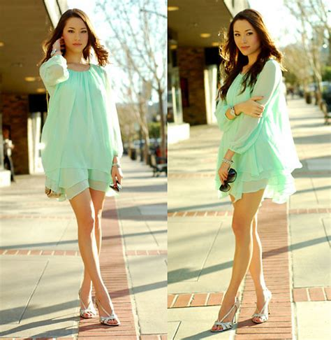 r wardrobe chiffon dress guess heels