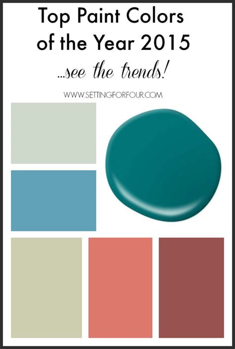 top paint colors of the year 2015 decor trends paint colors paint palettes and inspiration