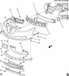2005 Pontiac G6 Parts Pontiac G6 Bumper Front Zh37 69 Bumper Front