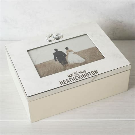 Wedding Keepsake Box by Personalised Silver Plated Wedding Keepsake Box