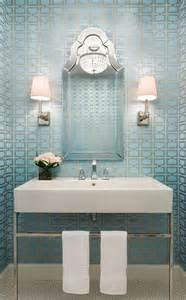 Powder Rooms With Wallpaper Pin Modern Powder Room Wallpaper Wood Vanity Black And