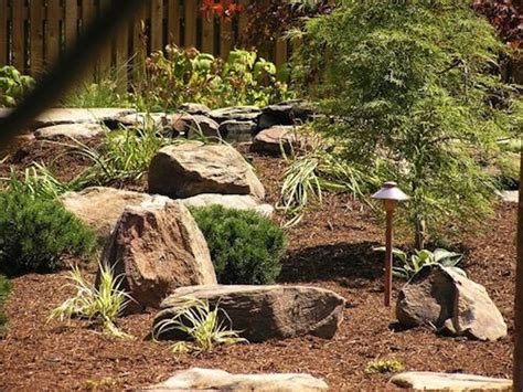 johnson backyard garden backyard landscaping with stones johnson s landscaping