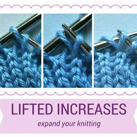 invisible knit increase 25 b 228 sta knitting increase id 233 erna p 229