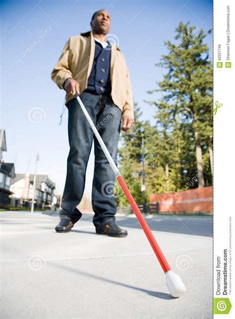 What Is The Stick A Blind Person Uses Called blind using a walking stick stock image image 62557749