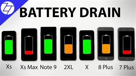 iphone xs vs xs max vs note 9 vs pixel 2 vs x vs 8 plus vs 7 plus battery drain test