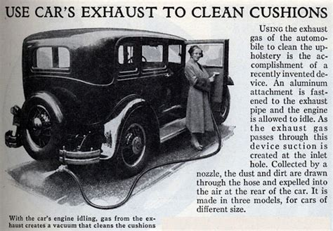 Kohlenmonoxidvergiftung Auto by Flashback Car Exhaust Vacuum Cleaner