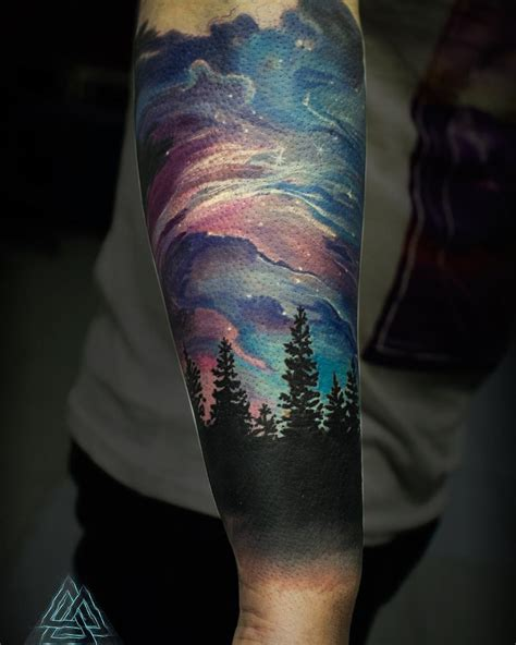 northern lights tattoo beautiful northern lights sleeve venice