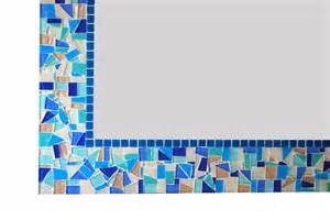 blue mosaic bathroom mirror blue mosaic mirror bathroom decor handcrafted wall