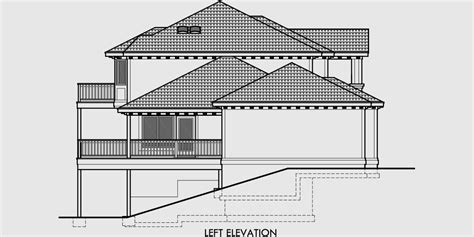 Mediterranean House Plans Luxury House Plans 10042 Mediterranean House Plans On A Slope