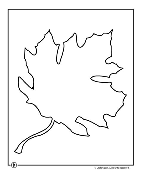 printable leaf template maple leaf template woo jr activities