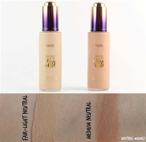 light medium tarte foundation tarte rainforest of the sea water foundation in fair light