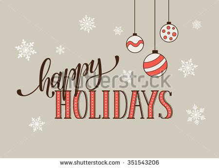 happiest holidays card template happy holidays postcard template modern new stock vector
