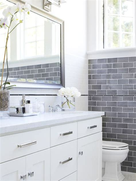 bathroom subway tile designs 35 blue gray bathroom tile ideas and pictures
