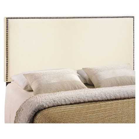 upholstered nailhead headboard region upholstered headboard ivory nailhead dcg stores