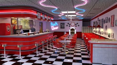 50's Diner   3D Models for Poser and Daz Studio