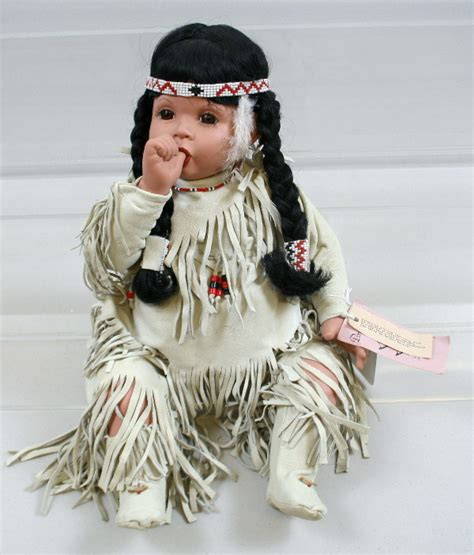 porcelain doll american indian 177 porcelain american indian doll lot 177