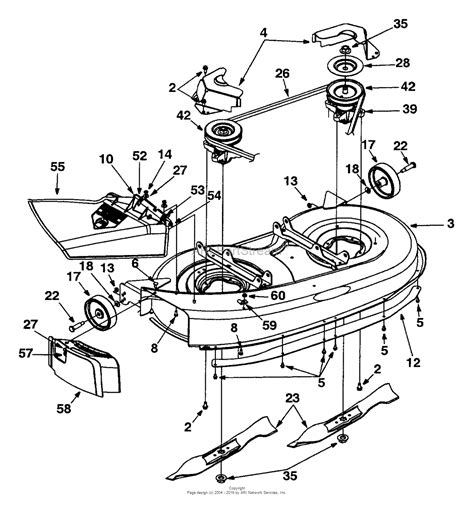 yard machine mower parts diagram mtd 13bh670f062 2001 parts diagram for deck assembly quot f quot