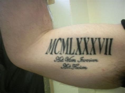 tattoo generator roman numerals roman numeral arm tattoo tattoos pinterest