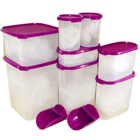 Tupperware Purple tupperware kitchen modular mates purple essential set 8pcs