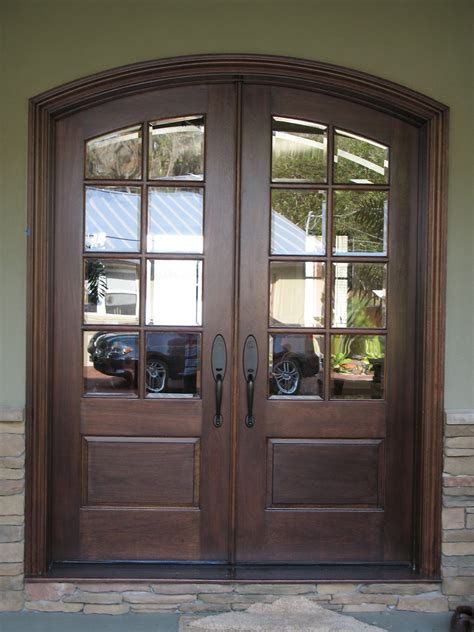 Wood Entry Doors With Glass Door