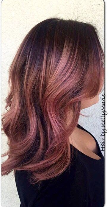 brown and gold hair colour rose gold hair color with brown recherche google