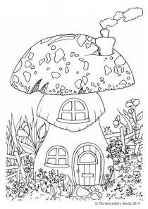 toadstool house colouring picture the storyteller s abode