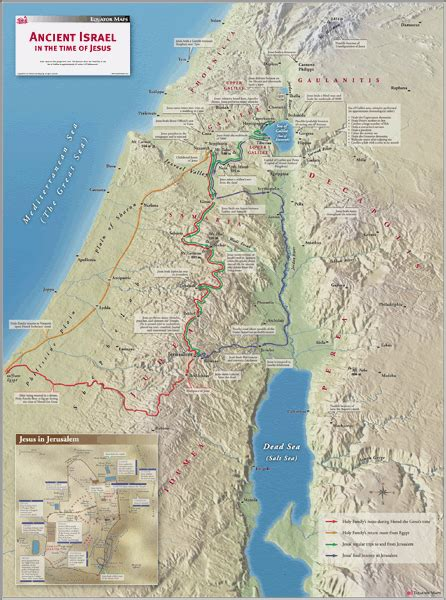 ancient israel wall map  equator maps
