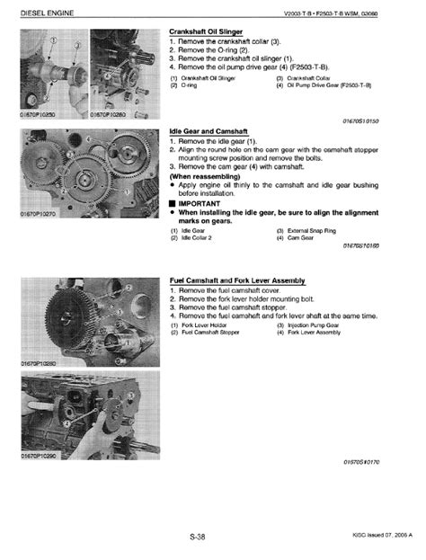 Kubota V2003 T B F2503 T B Diesel Engines Workshop Manual Pdf