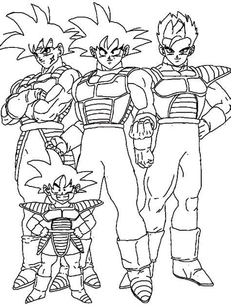 dragon family coloring page goku family coloring page
