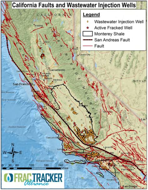 map of of california cuses will frackers cause california s next big earthquake grist