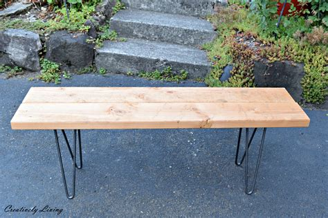 legs for benches diy hairpin leg wooden bench creatively living blog