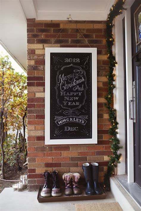 A Chalkboard Welcome Sign For The Front Door Merry Welcome Sign Front Door