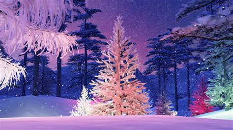 magischer weihnachtsbaum magischer weihnachtsbaum mit bunter lichtillustration