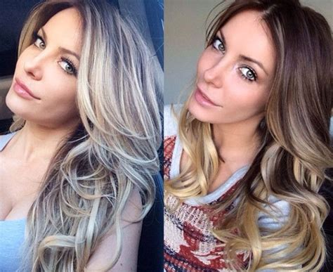 how to ombre hair dark to light crystal harris dyes hair from dark to light blond at the