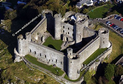 Harlech Castle Floor Plan by Harlech Castle Aerial Photograph Ba30736 Jpg