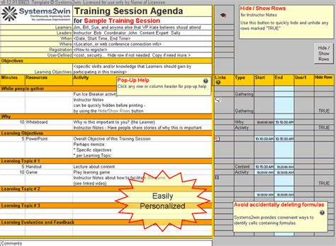 exercise session plan template plan template agenda template
