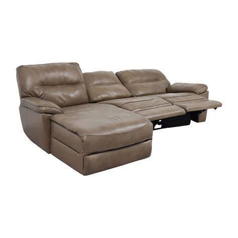 chaise lounge recliner 76 off macy s macy s gunmetal grey leather chaise