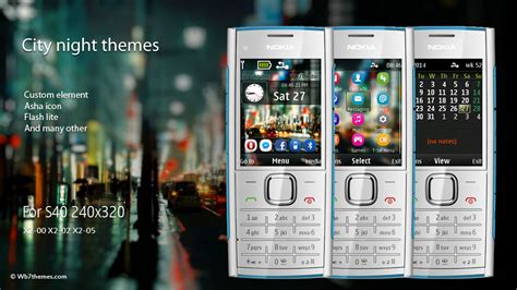 themes the nokia x2 city theme for nokia x2 00 x2 02 240x320 wb7themes