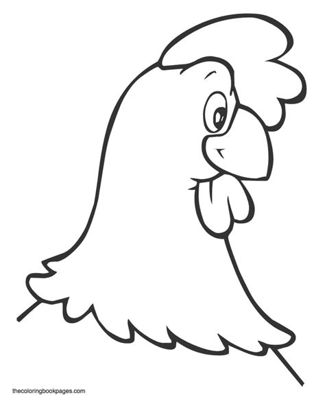 chicken head coloring page animal faces coloring pages coloring home
