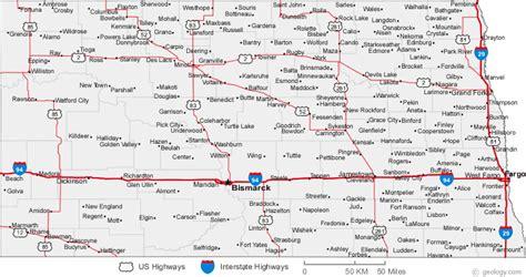 dakota in usa map road map of dakota