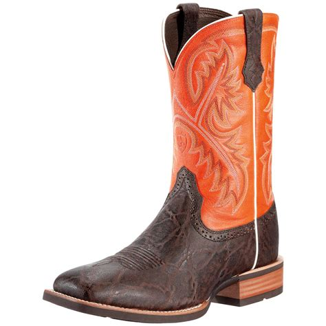 cowboy boots s ariat 174 11 quot quickdraw cowboy boots chocolate