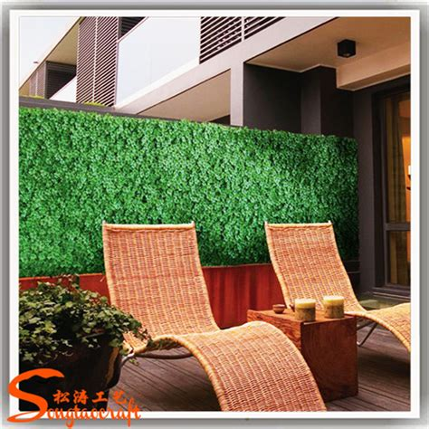 künstliche hecke sichtschutz bambus dekor zaun